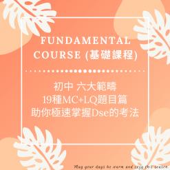 Dse數學補習 網上補習 Fundamental Course 基礎課程