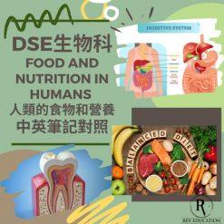網上補習 Dse Biology 補習 Food and Nutrition in humans 人類的食物和營養