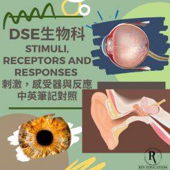 網上補習 Dse Biology 補習 Stimuli, receptors and responses 刺激,感受器與反應