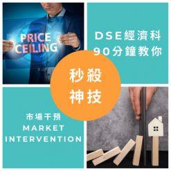 網上補習 Dse Econ 補習 市場干預 Market intervention