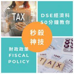 網上補習 Dse Econ 補習 財政政策 Fiscal policy