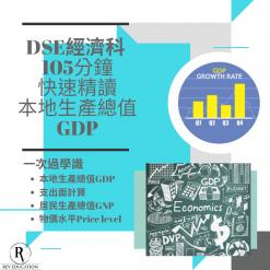 網上補習 Dse Econ 補習 GDP 本地生產總值